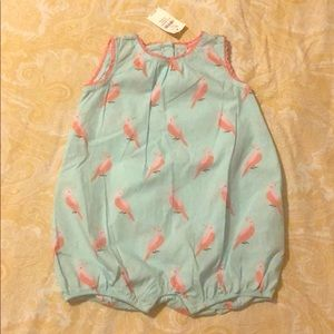 Baby Gap summer Romper with Parrots NWT One Piece